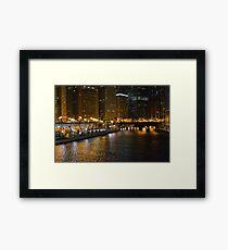 Chicago After Dark Framed Print