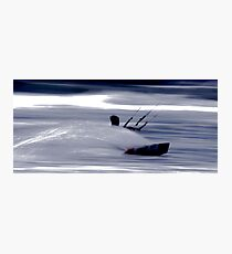 Kitesurfing - Riding the Waves in a Blur of Speed Photographic Print