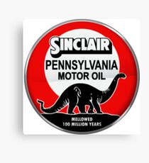 Sinclair Motor Oil vintage sign reproduction. Crystal version Canvas Print