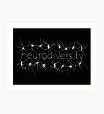 Neuron Diversity - White and Black Art Print