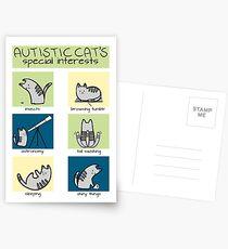 Autistic Cat's Special Interests Postcards