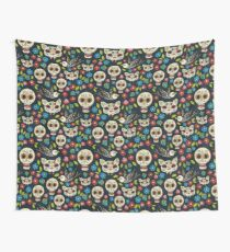 Day of the Dead, a traditional holiday in Mexico.  Wall Tapestry