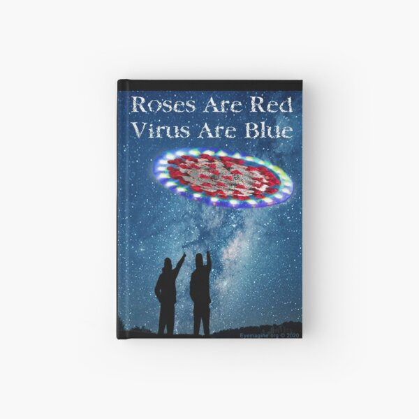 Virus Are Blue Hardcover Journal