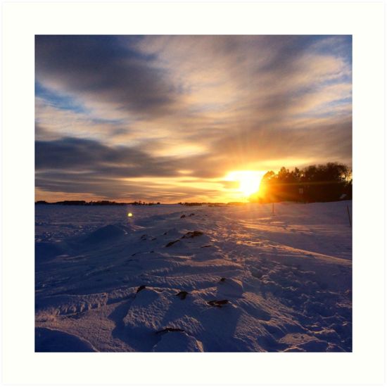 Prince Edward Island Winter Sunset in Charlottetown by nadinestaaf
