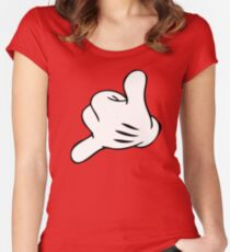 Funny Surf fingers - Shaka hand Women's Fitted Scoop T-Shirt