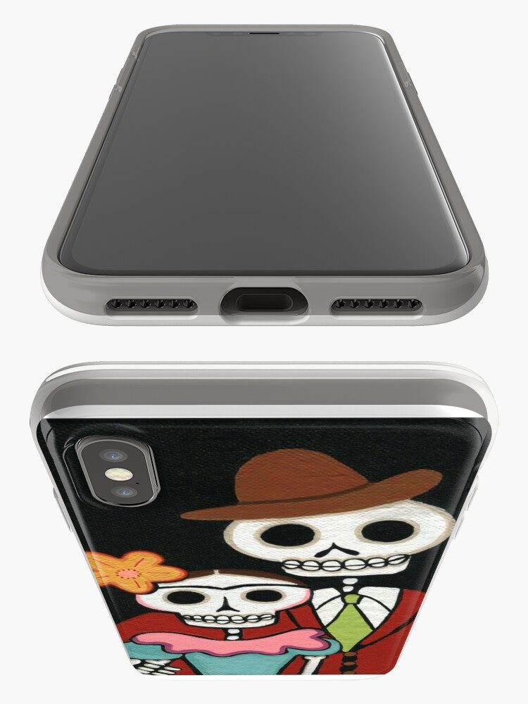 Alternate view of Two Skelly Artists iPhone Case & Cover