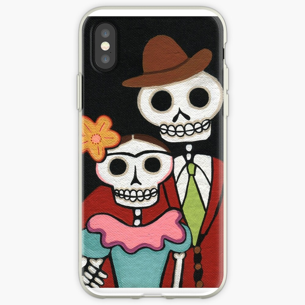 Two Skelly Artists iPhone Case & Cover
