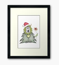 Gibson the Christmas Critter Framed Print
