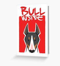 Bull inside Greeting Card
