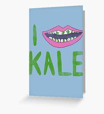 I Heart Kale Greeting Card