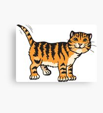 Goofy tiger with wagging tail Canvas Print