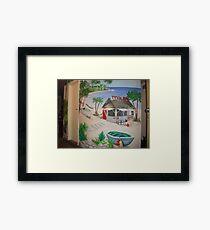 """Mural of Beachside """"Dive Bar"""" Framed Print"""