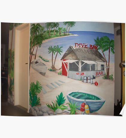 """Mural of Beachside """"Dive Bar"""" Poster"""
