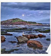 Setting Moon - Long Reef - NSW Poster