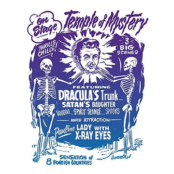 Vintage Halloween Spook Show Temple of Mystery  by 91design