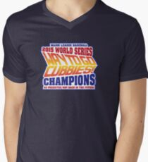 Chicago Cubs World Series Champions - Back to the Future  Men's V-Neck T-Shirt