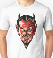 Vintage Halloween Red Devil Head T-Shirt