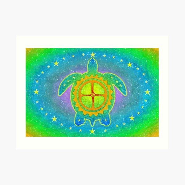World Turtle Art Print