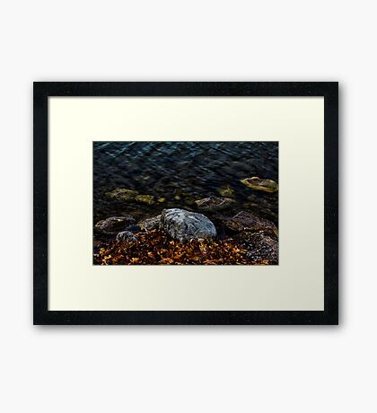 Under These Rocks and Stones Framed Print