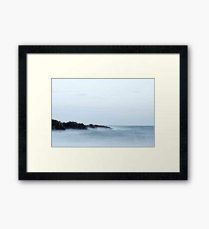 Rough Seas at Groudle Beach Framed Print