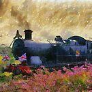 Steam Train, Shepton Mallet, Somerset, England, UK by David Carton