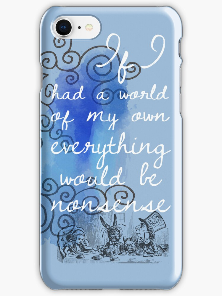 Alice in Wonderland iPhone Case by Alexandra Grant