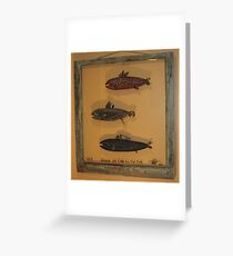 """Windows are fish tothe sole 4 of 13 30"""" x 32"""" (SOLD) Greeting Card"""