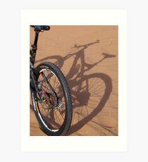 Shadow bike Art Print