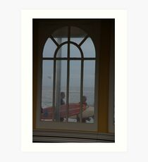 Surfers Have A Narrow Window Of Opportunity Art Print