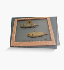 """Windows are fish to the sole 8 of 13. 28"""" x 24"""" (SOLD) Greeting Card"""