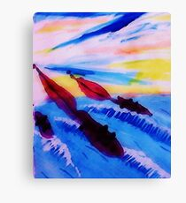 The America's Cup!  watercolor Canvas Print