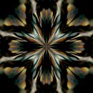 Black Orchid_Kaleidoscope Card by Diane Johnson-Mosley