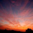 Jerusalem Sky Fire by johnnabrynn