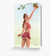 Fresh Peach Greeting Card
