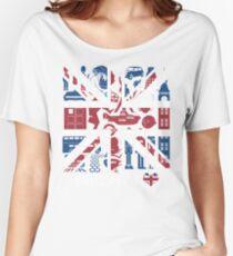 British @ Heart Women's Relaxed Fit T-Shirt