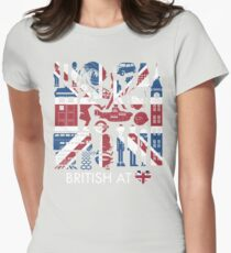British @ Heart Womens Fitted T-Shirt