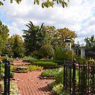 Open Gate to an Herb Garden by Paula Betz