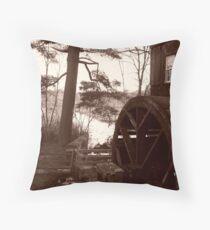 Old Sturbridge Village Mill Wheel, Autumn 2011 Throw Pillow