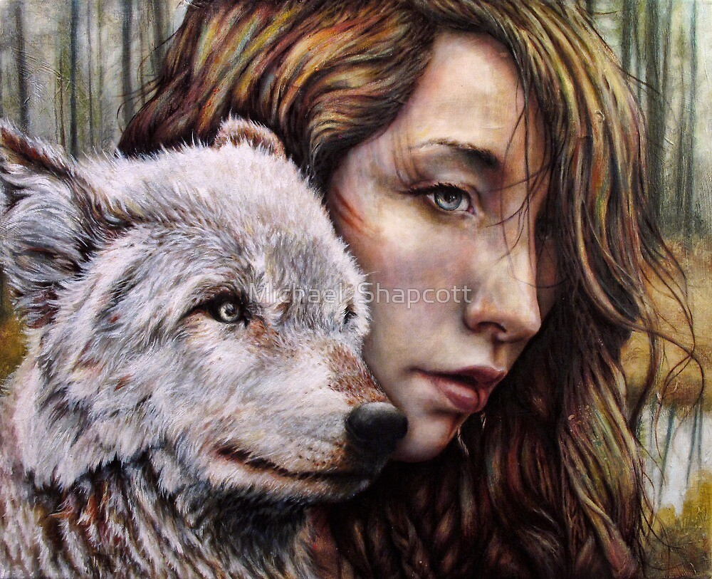 The Girl and the Wolf by Michael  Shapcott