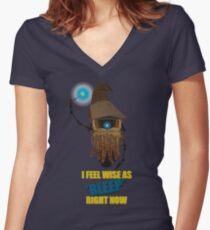 CLAPTRAP WIZARD! Women's Fitted V-Neck T-Shirt