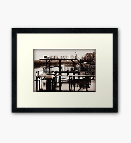 The River Retreat - revisited Framed Print