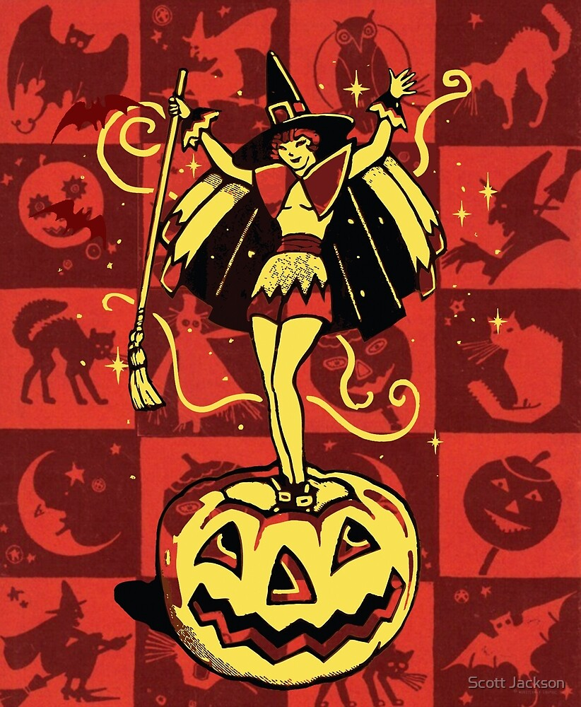 Halloween Witch Girl (vintage) by Scott Jackson