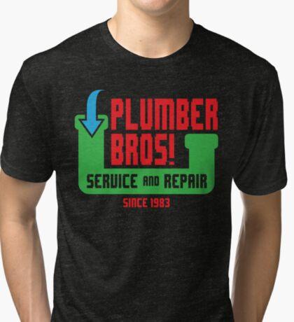 PLUMBER BROS! Tri-blend T-Shirt