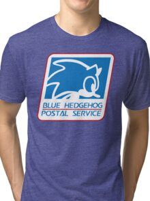 BLUE HEDGEHOG POSTAL SERVICE Tri-blend T-Shirt