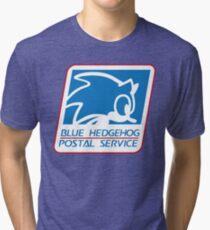 BLUE HEDGEHOG POSTAL SERVICE Tri-blend T-Shirt