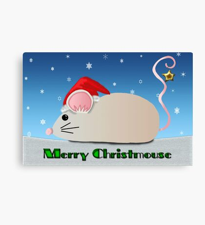 Merry Christmouse Canvas Print