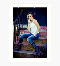 Tina in Blue Jeans-1 Art Print