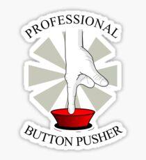 Professional Button Pusher Sticker