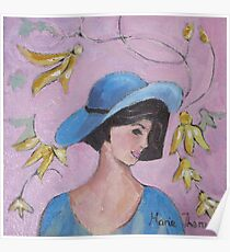 A Hat for the Topaz Dress Poster