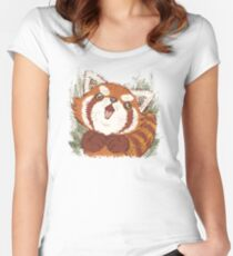 Joy of Red panda Women's Fitted Scoop T-Shirt